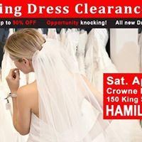 Hamilton Wedding Dress Clearance Sale