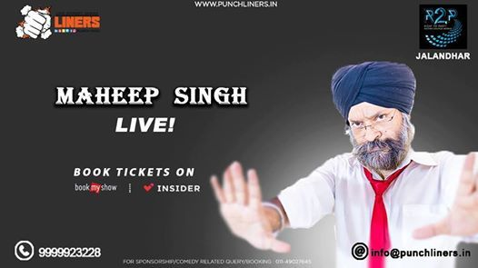 Punchliners Standup Comedy Show Ft Maheep Singh in Jalandhar