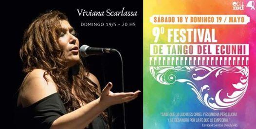 Viviana Scarlassa en el Festival de Tango del Ecunhi