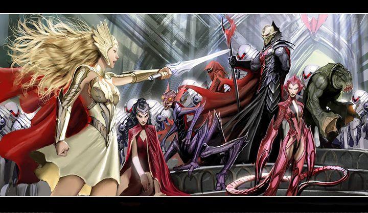 He-Man Vs She-Ra Vs Skeletor Vs Hordak at Phoenix Comicon ...