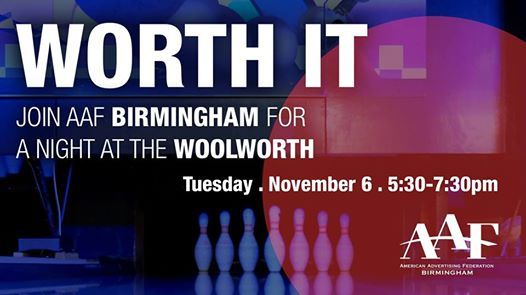 Join AAF Birmingham for a Night at the Woolworth