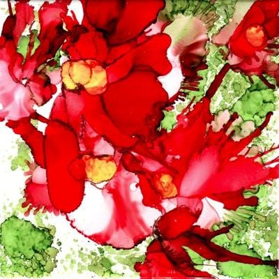 Alcohol Inks on Ceramic Tile for the Holidays with Kristin Woodward