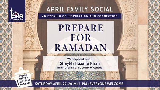 April Family Social Event - Prepare for Ramadan at ISNA