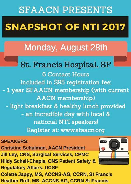 Snapshot of NTI 2017 at Dignity Health Saint Francis