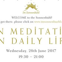 Zen Meditation in Daily Live