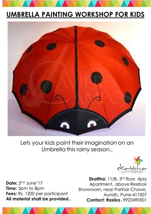877cbc39587b3 Umbrella Painting Workshop for Kids at Ekattha - The Design Faktory ...