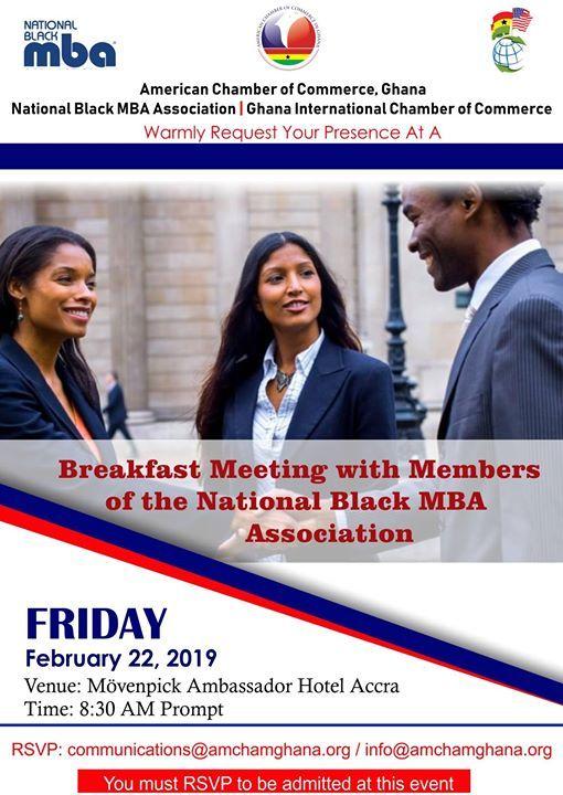 Breakfast Meeting with Members of National Black MBA