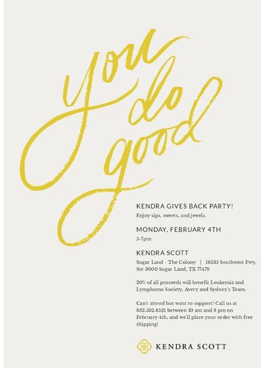 Kendra Scott Spirit Night at Kendra Scott (Sugar Land, TX)16535