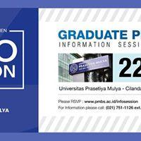 Info Session - Universitas Prasetiya Mulya