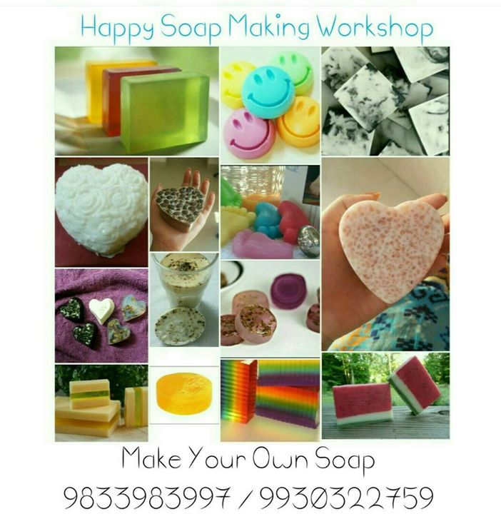 Happy Soap Making at Psychology Classes, Mumbai