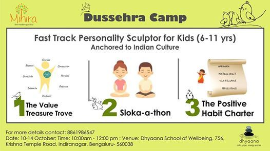 Dussehra Camp  Fast Track Personality Sculptor for Kids