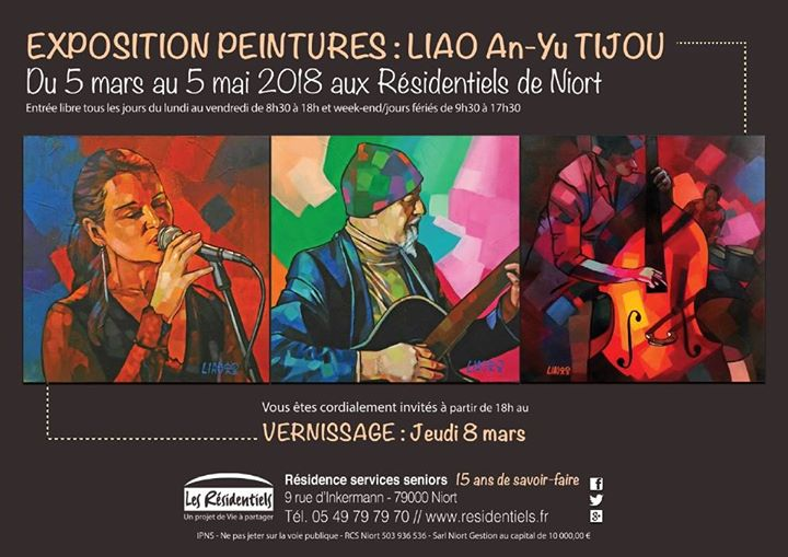 Invitation Vernissage Expo Peintures At Les Residentiels De Niort