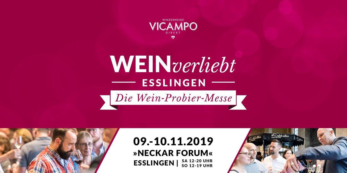 VICAMPO WEINverliebt Esslingen 09.10. November 2019