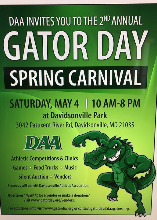 2nd Annual Gator Day Carnival at Davidsonville Park, Maryland