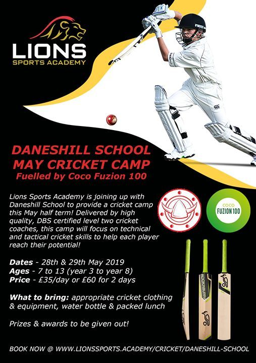 Lions Sports Academy Daneshill School Cricket Camp at