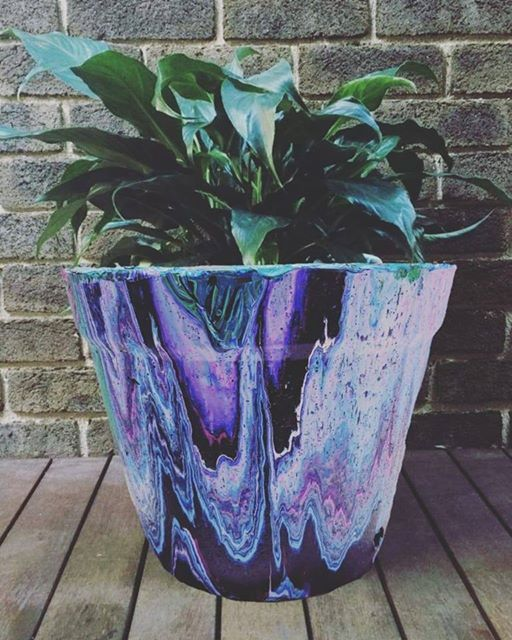 Acrylic Pour on Pot - Beginner Workshop in Bangalore