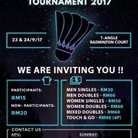 APU-SUNWAY Badminton Tournament 2017