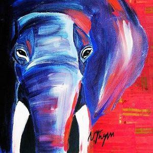 ArtNight Elefant am 25042019 in Wiesbaden