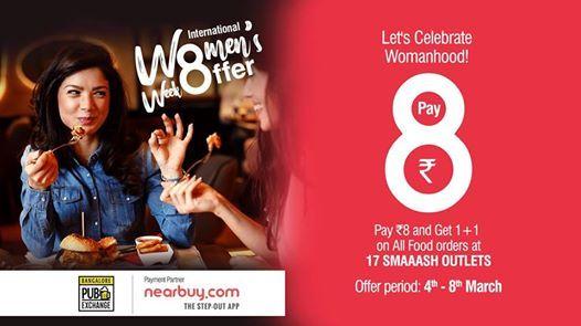 International Womens Week Offer At Bangalore Pub Exchange