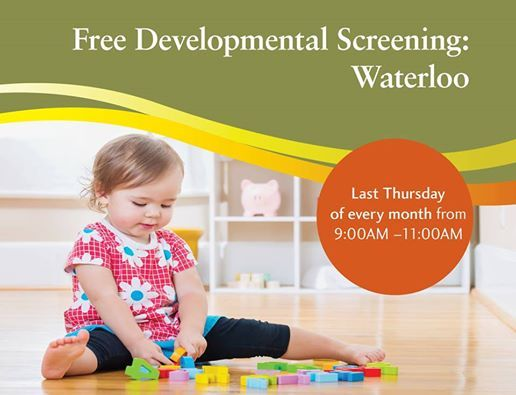 Free Developmental Screening Clinic - Waterloo