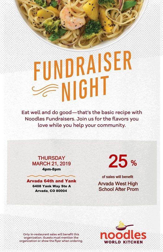 Noodles Fundraiser for After Prom