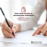 Palestra Como evitar fraudes na documentao imobiliria