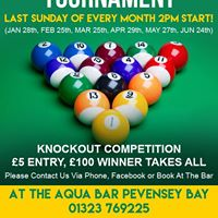 Pool Tournament - Last Sunday of Every Month 2pm Start