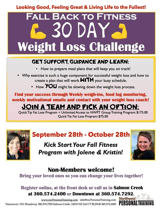 Fall Back Into Fitness - 30 Day Weight Loss Challenge