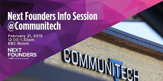 Next Founders Info Session at Communitech