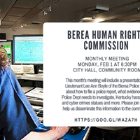 Berea Human Rights Commission February Monthly Meeting