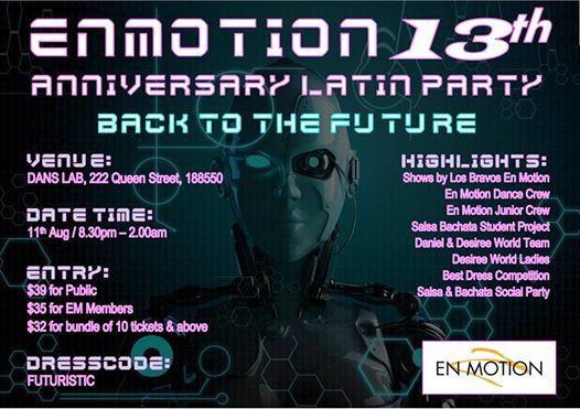 En Motion 13th Anniversary Latin Party