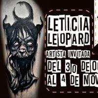 Leticia Leopard - Artista Invitada en Arte Sano Tattoo Studio