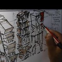 A lecture on Architectural Isometric Drawing with architect Youssef El Marsafy