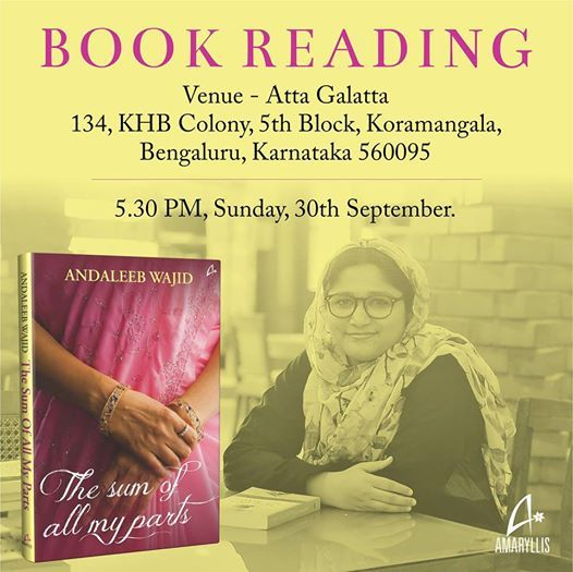 Book Reading The Sum of All My Parts by Andaleeb Wajid