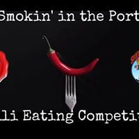 Smokin in the Port Chilli Eating Competition