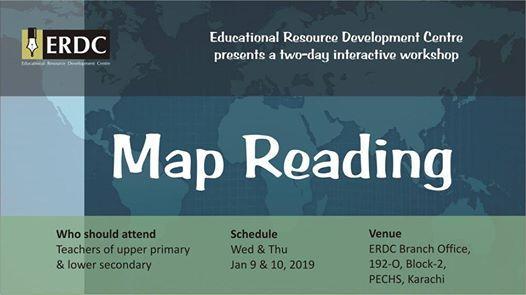 ERDC Workshop: Map Reading at ERDC Branch Office PECHS, Karachi