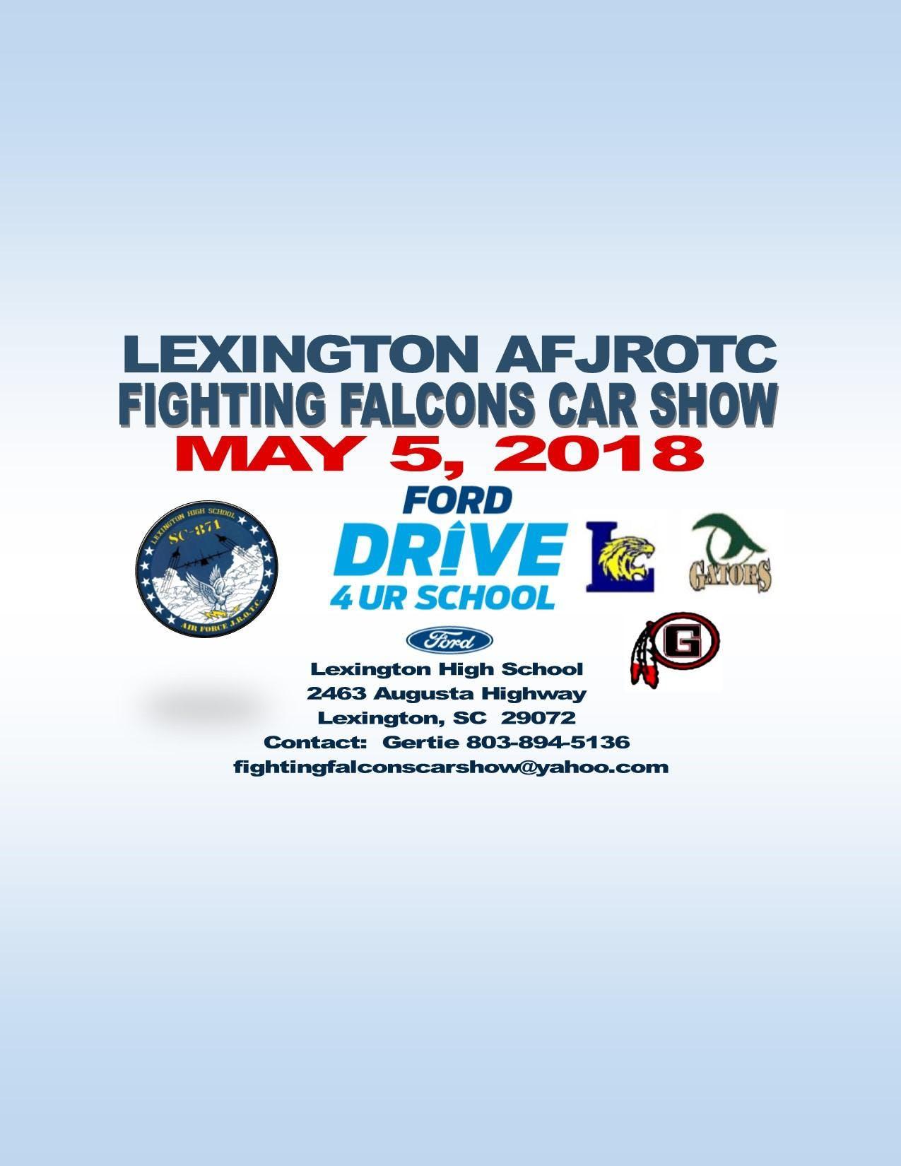 Lexington AFJROTC Fighting Falcons car show