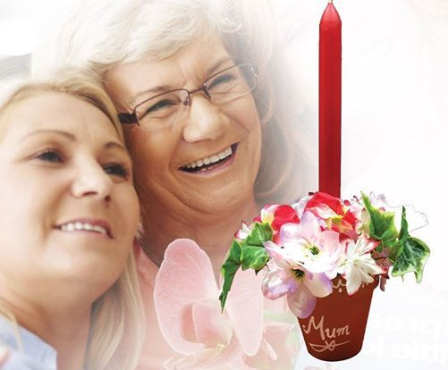 Mothers Day Candle Posy