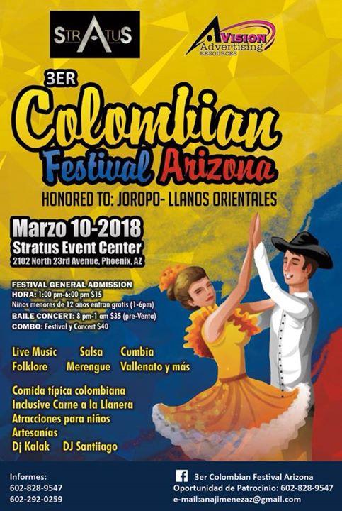 3rd Colombian Festival Arizona