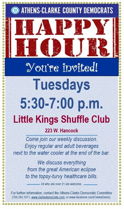 Athens-Clarke County Democrats Happy Hour