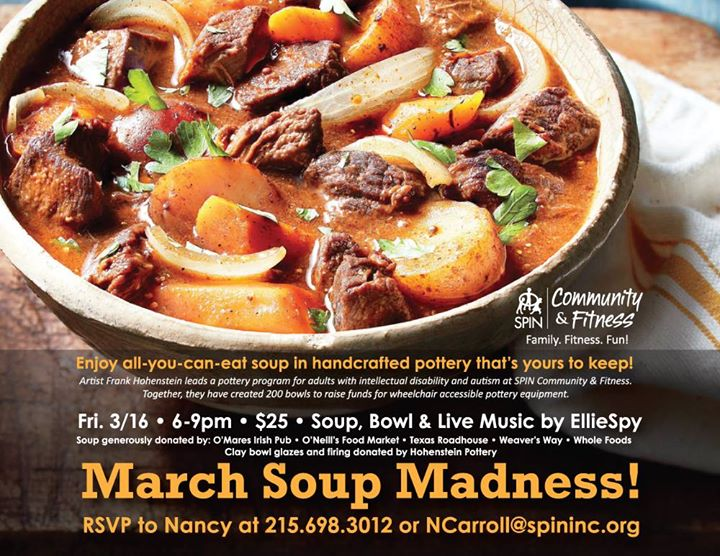 March Soup Madness at SPIN Community & Fitness