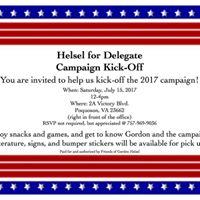 Helsel for Delegate Campaign Kick-Off
