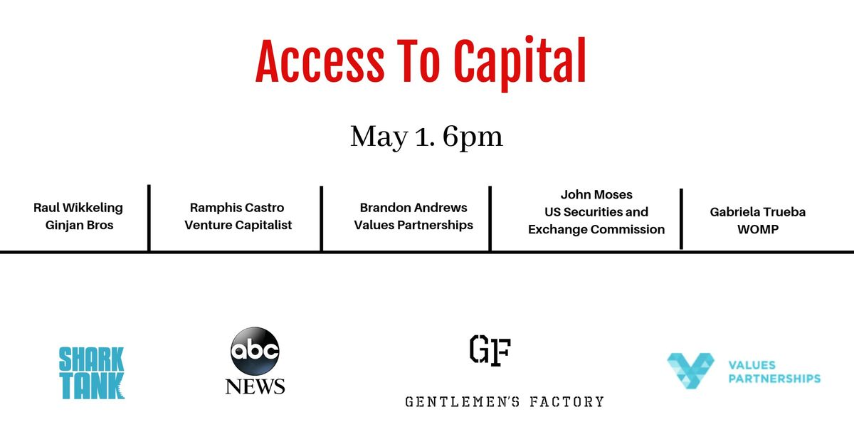 Access to Capital Discussion with Diverse Investors at The