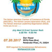 July Meet &amp Greet &quotSummer Bash&quot