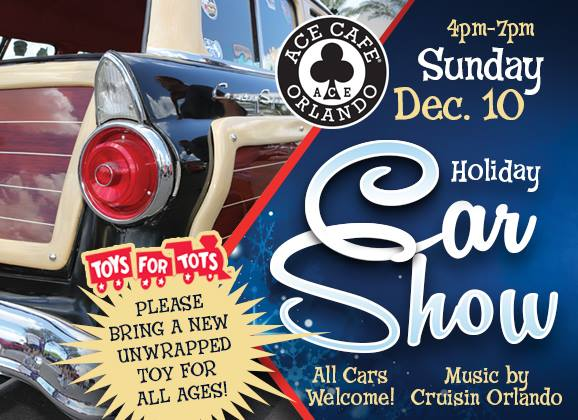 Toys For Tots Christmas Car Show At Ace Cafe Orlando - Ace cafe orlando car show