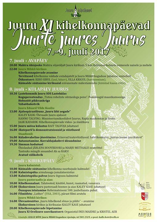 Juuru Xi Kihelkonnapaevad At Juuru Estonia Juuru