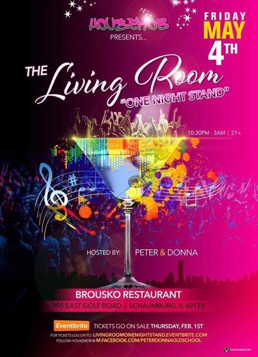 The Living Room One Night Stand At Brousko Restaurant Schaumburg