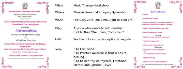Nada Manthana - Music Therapy Workshop