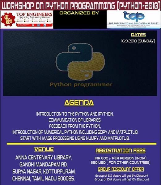 Workshop on Python Programming (PYTHON-2018)