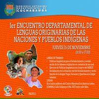 PRIMER ENCUENTRO DEPARTAMENTAL DE LENGUAS ORIGINARIAS DE LAS NACIONES Y PUEBLOS INDIGENAS